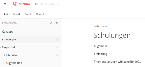 Unser Perl-Academy Workspace